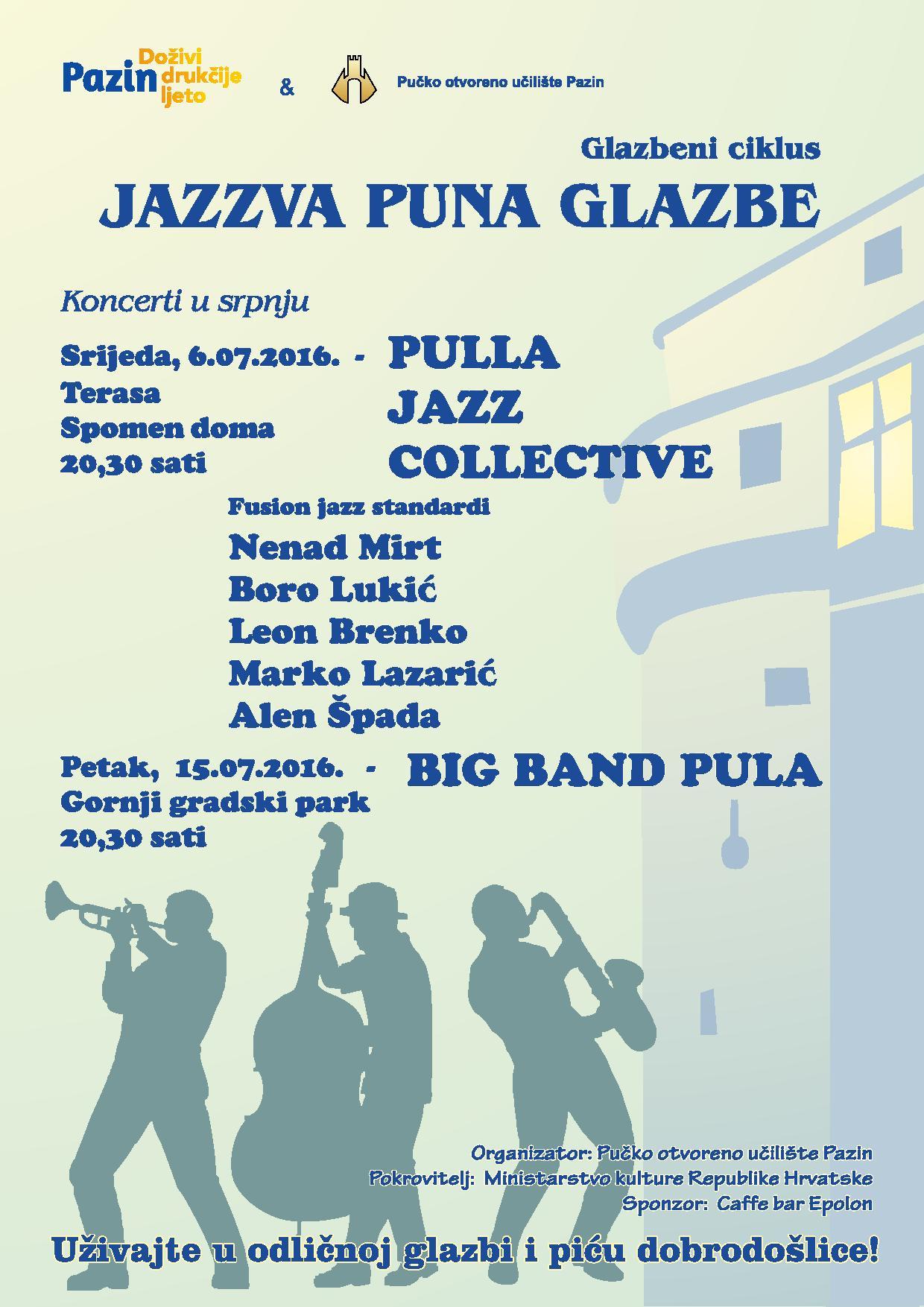 Pula Jazz Collective otvara glazbeni ciklus Jazzva puna glazbe