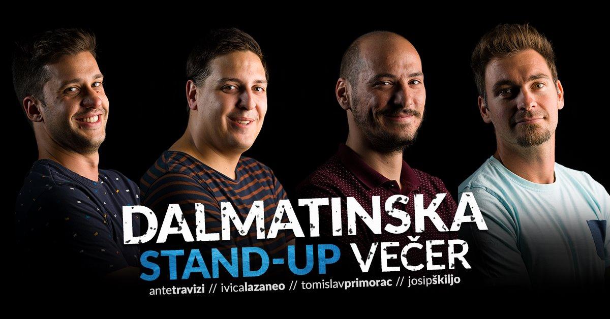 Dalmatinska stand-up comedy večer – SplickaScena – 18. siječnja u 19, 00 sati