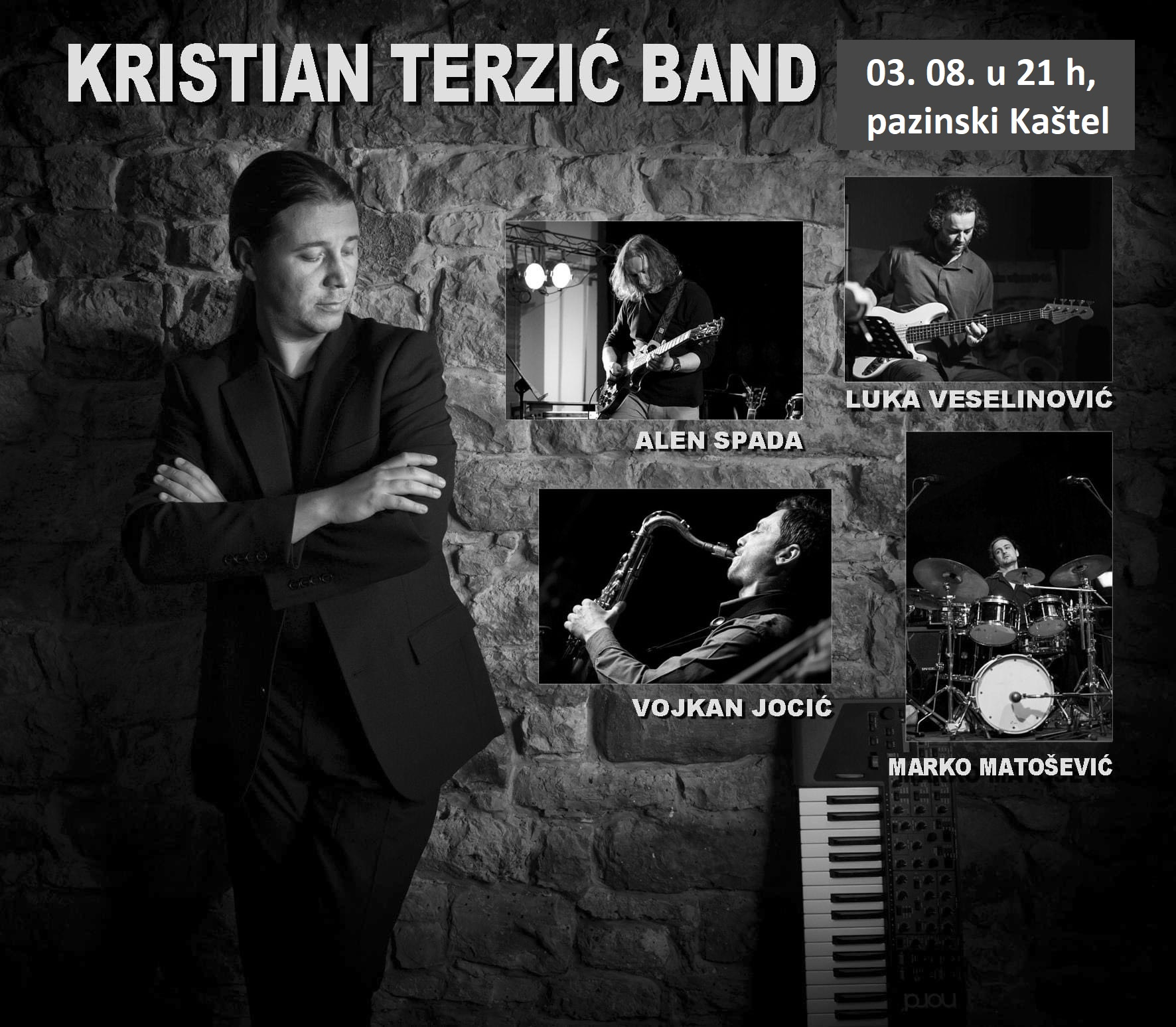Kristian Terzić Bend – Jazz koncertu Kaštelu – Utorak 3. 08.